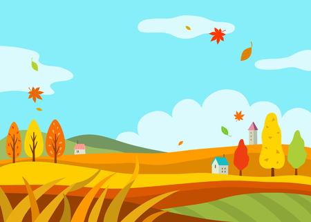 agricultura: paisaje de oto? Vectores