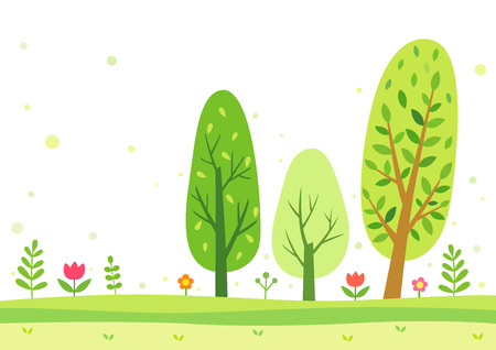 Green trees in the summer Illustration