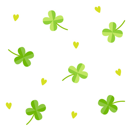 lucky clover: Clover pattern with white background Illustration
