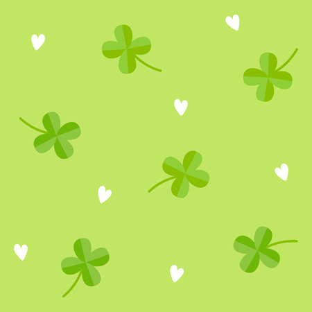 seamless clover: Clover pattern with white background Illustration