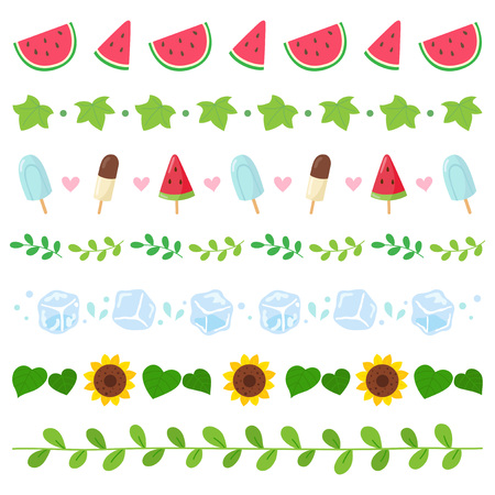 Summer elements border set