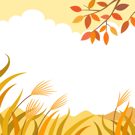 autumn nature landscape background Illustration