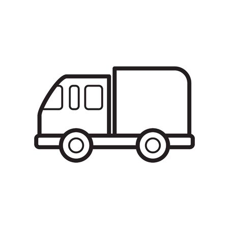 Delivery truck line icon Illustration