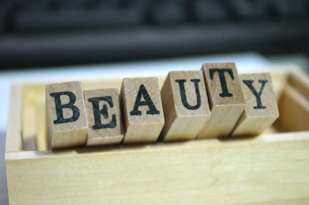 beauty Text On Wooden Blocks