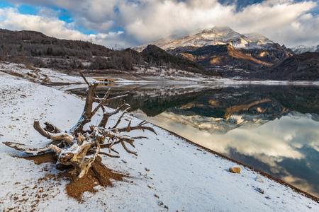 landscape in Mountain Lake spain huesca Stock Photo