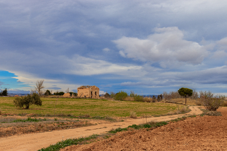 the way to the old house in spanish landscape