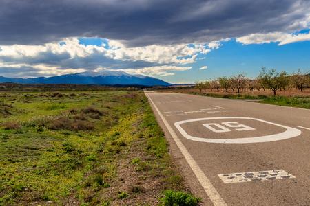 road to the moncayos mountain