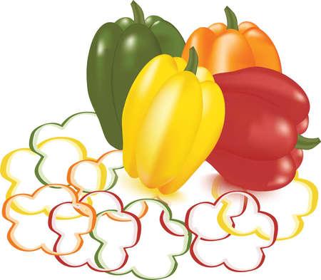 Vector set of peppers Vector