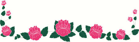 Abstract pink rose background Illustration