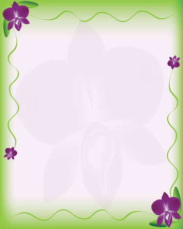 Paper orchid background Stock Vector - 13158766