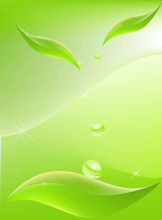 Leaf background Illustration