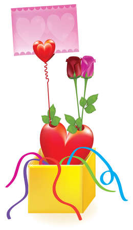 Gift with Rose flower