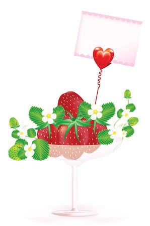 Martini with fresh strawberry