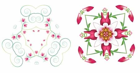 Flower style modern isolate Stock Photo
