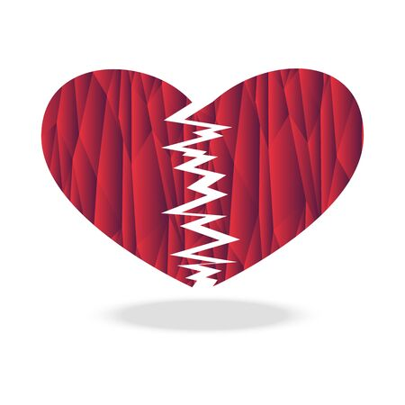 Polygon broken heart