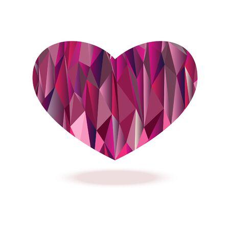 polygon heart diamond Illustration
