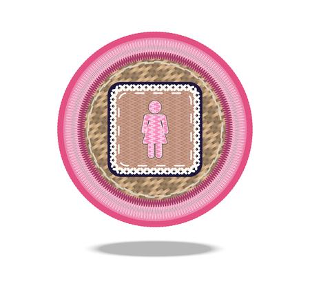 woman symbol basket icon