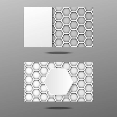 Business card hexagon design