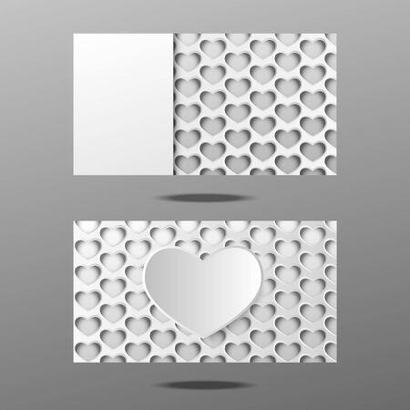 business card heart design Illustration