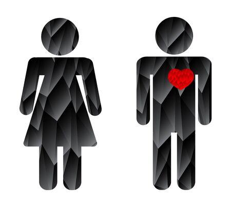man in love woman