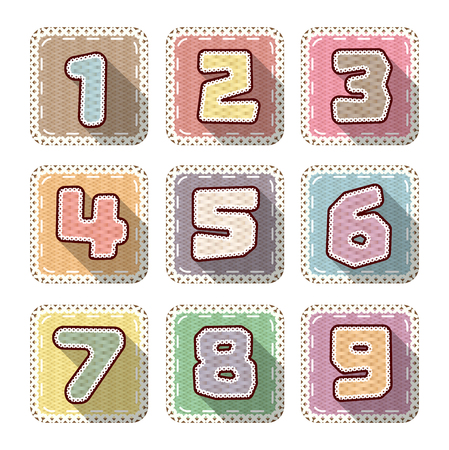 number sew flat icon for kid