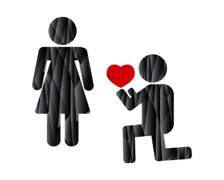 hacer el amor: give my heart make love Vectores