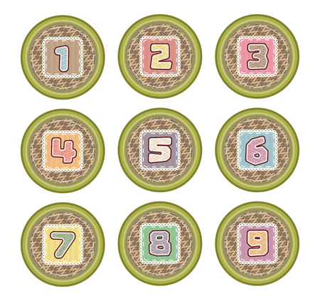 number basket icon for kid