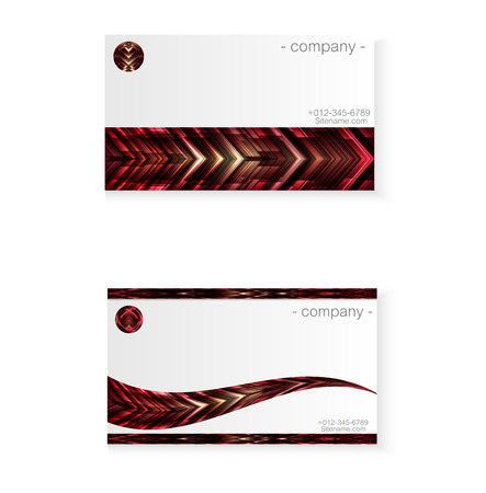 abstract red monster business card