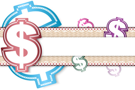 Money dollar label background for message