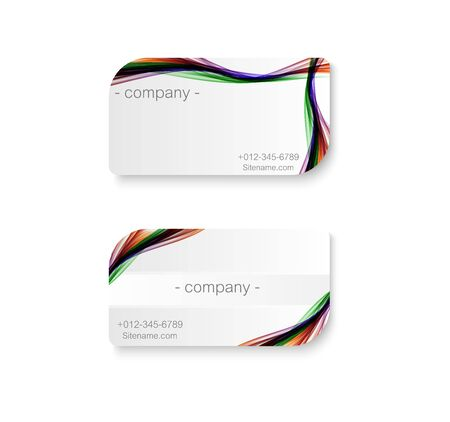abstract rainbow color wave business card
