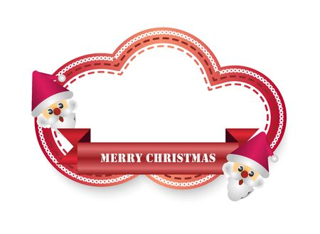 merry christmas vector labels Illustration