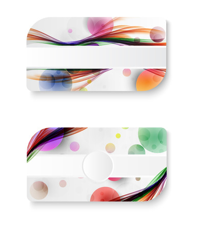 abstract rainbow galaxy color wave business card