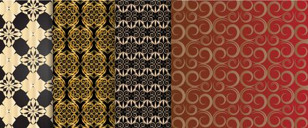 Set of 4 pattern Indy backgrounds for design