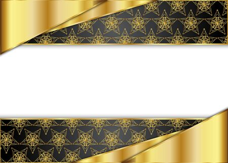 Golden and dark vintage  Blank for message or text.Certificate.