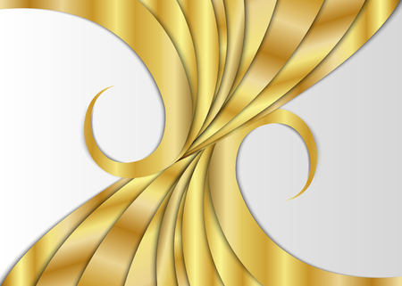 Golden abstract background. Illustration