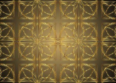 floor covering: Golden and Dark pattern vintage backgrounds for design.