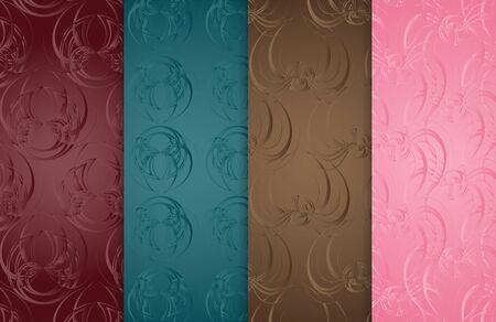 floor covering: Set of 4 pattern vintage backgrounds for design