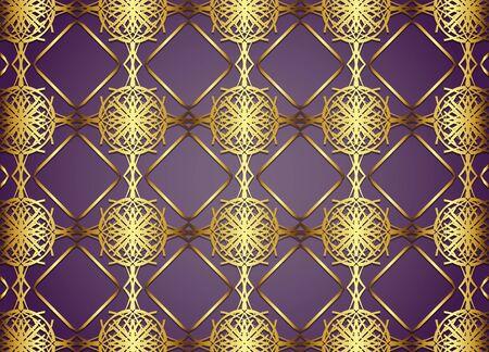 floor covering: Golden and Dark vintage Background. Illustration