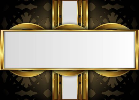 Golden and dark vector background.Blank for message or text. Illustration