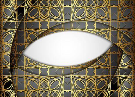 Golden and dark vector background