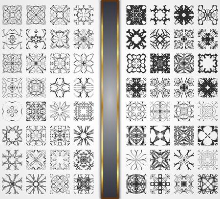 Set of vector seamless pattern. Illustration