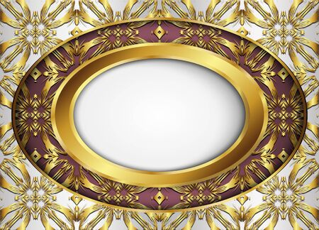 Circle label with vector background.Blank for message or text.