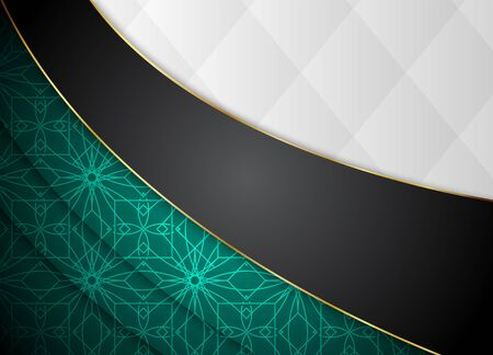 Dark vector background. Blank for message or text.