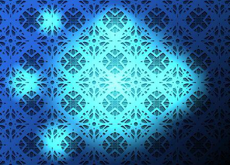Blue light vector background.