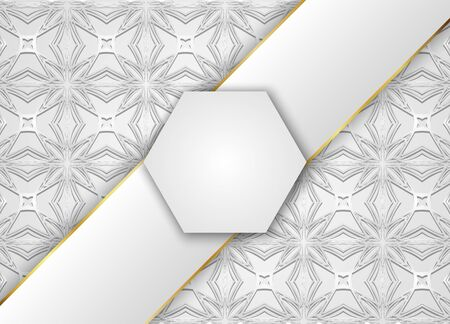 Grey vector background with square label.