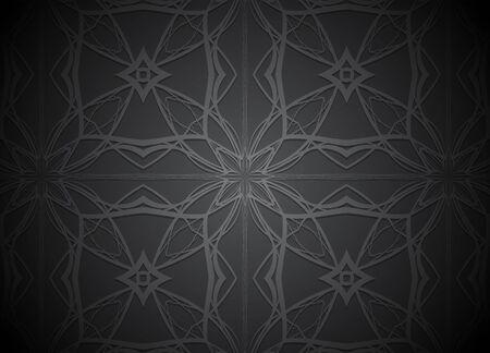Dark vector background with square label. Illustration