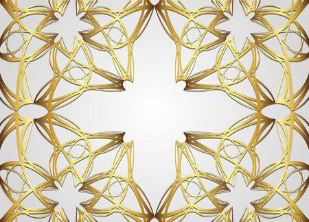 Golden Abstract vector background.