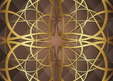 Golden and dark vector background. Illustration