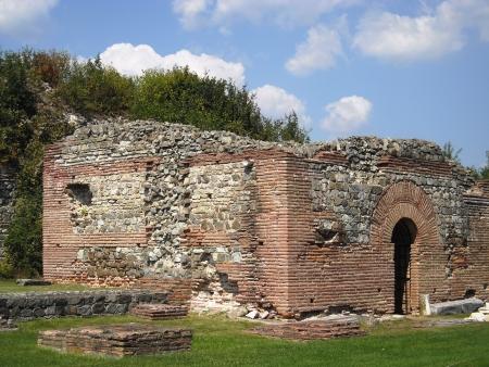 felix: Roman town Felix Romuliana of 3 century Stock Photo