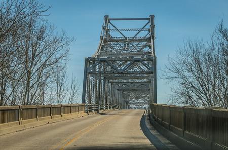 Photo of an old iron bridge. (2) Stock Photo